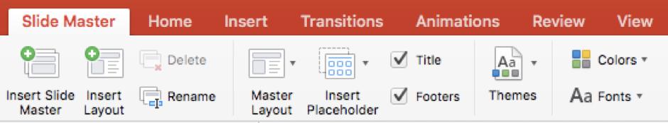 Microsoft PowerPoint: Slide Master Tab