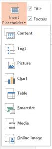 Microsoft PowerPoint: PlaceHolder Tab
